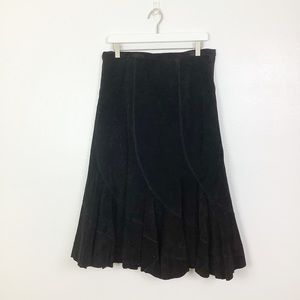 Live A Little Black Suede Skirt Size 10